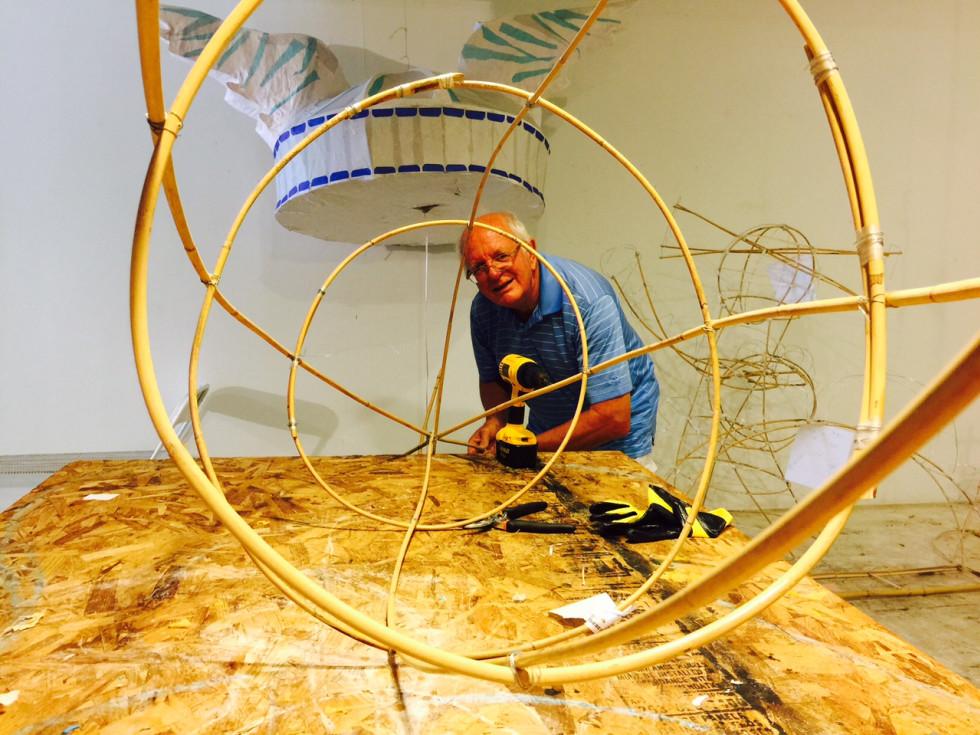 News, Shelby, Buffalo Bayou Park lanterns, August 2015, Arnold Vanek