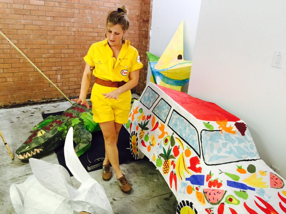 News, Shelby, Buffalo Bayou Park lanterns, August 2015, Camella Clements