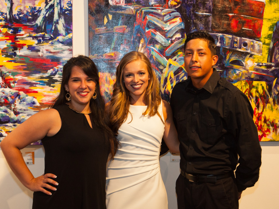 News, Shelby, Muir Gallery mural party, July 2015,  Megan Bourassa