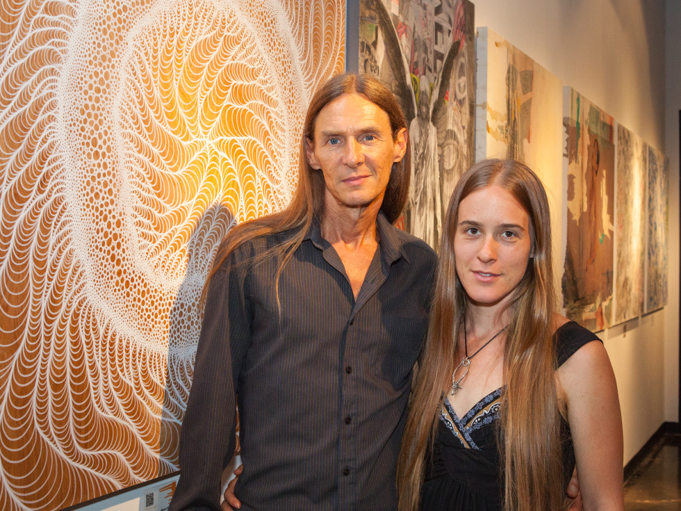 News, Shelby, Muir Gallery mural party, July 2015, Tommy Cornelison, Megan Merrill