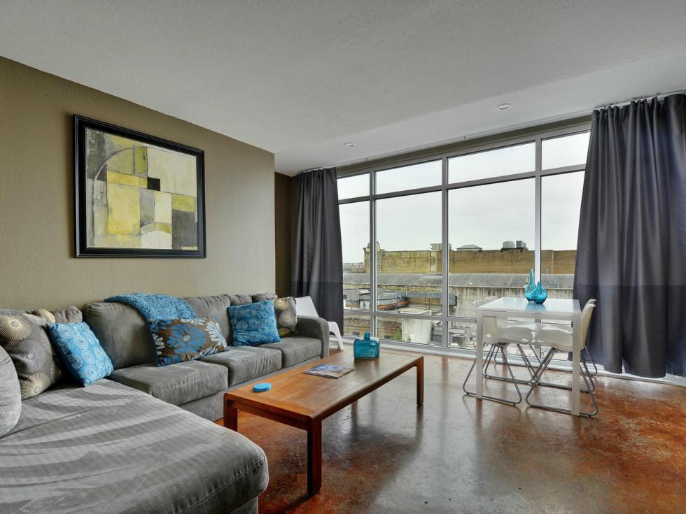 Littlefield Lofts Top downtown Austin Trip Rentals living room 5 2015