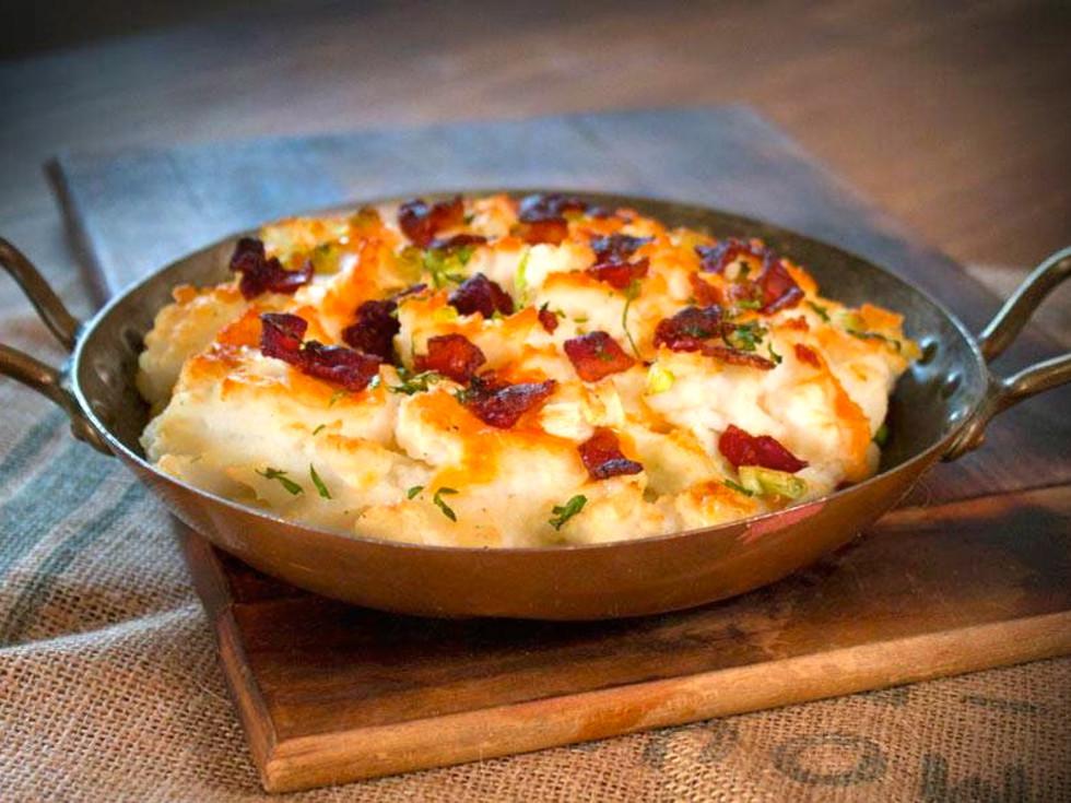 Houston, George Foreman Butcher Shop, July 2015, mashed potatoes