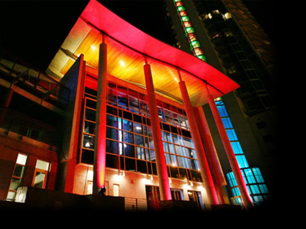 Austin Music Hall exterior night 2015
