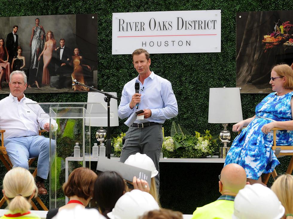 Jeff Zeigler, Greg Wattson and Nancy Sims at River Oaks District hardhat tour