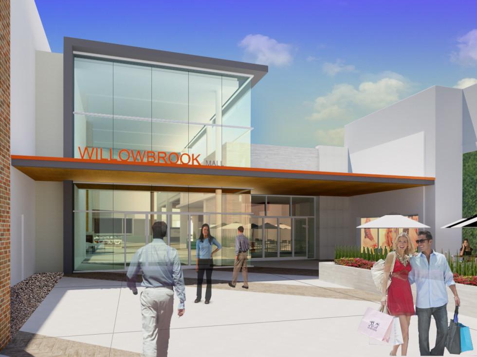 Willowbrook Mall renovations rendering