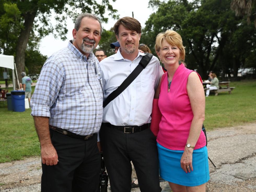 News, Shelby, Evelyn's Park groundbreaking, June 2015, Karl Miller- Scott McCready-Barbara Hofmann