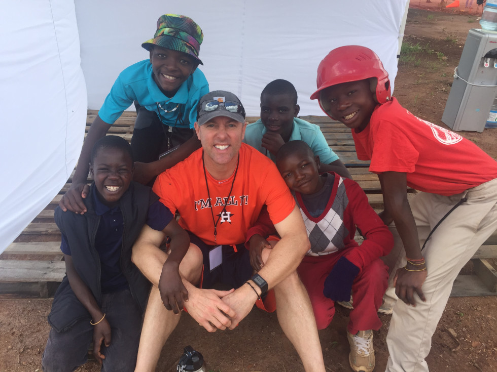 Reid Ryan Houston Astros president with youngsters