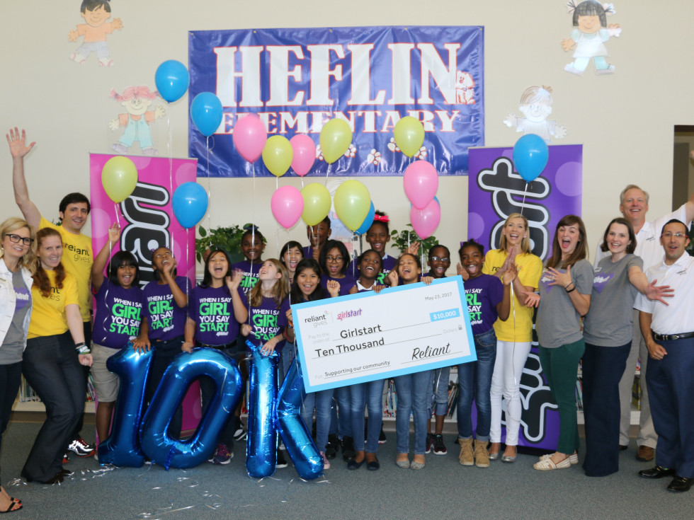 Girlstart receives $10,000 check from Reliant Gives