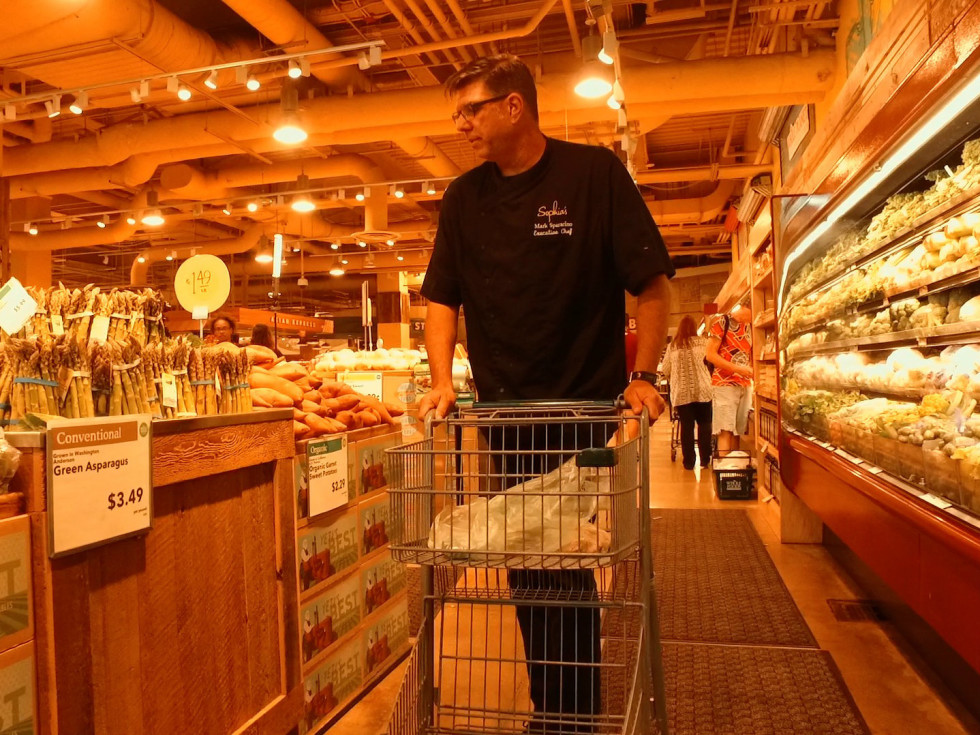 Chef Mark Sparacino shops at Whole Foods