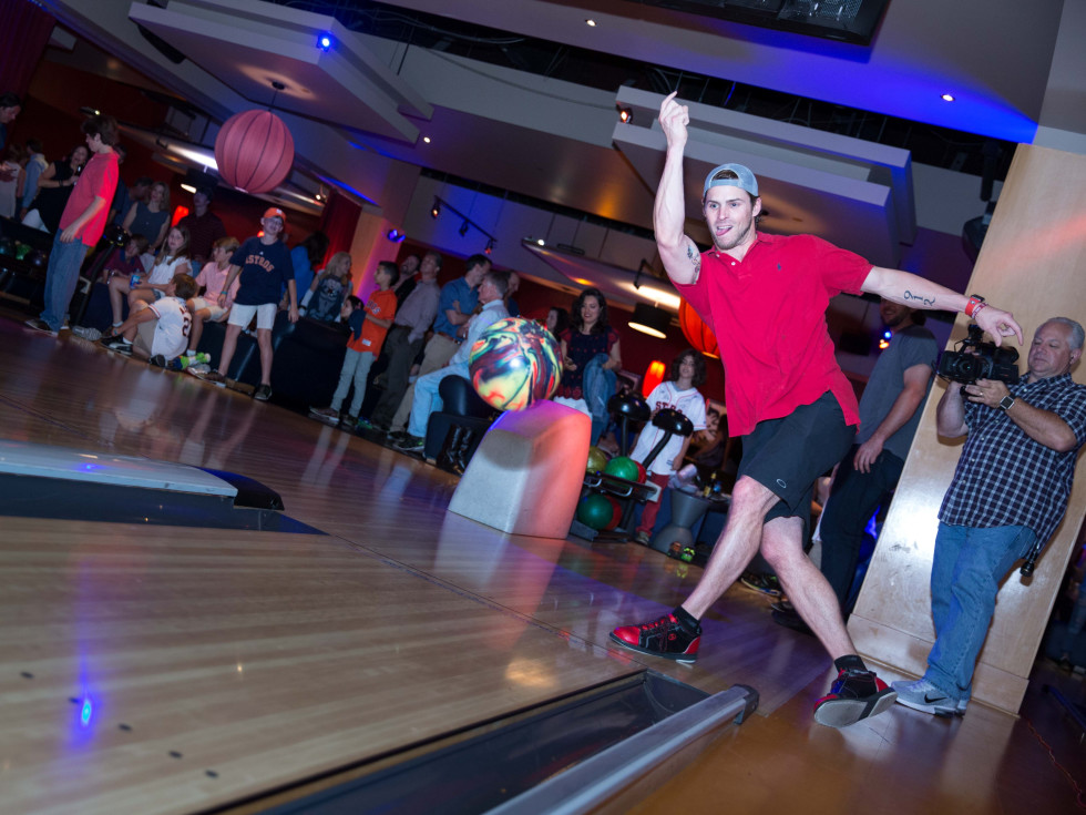 Houston, George Springer All Star Bowling Benefit for Camp Say, June 2017, Josh Reddick