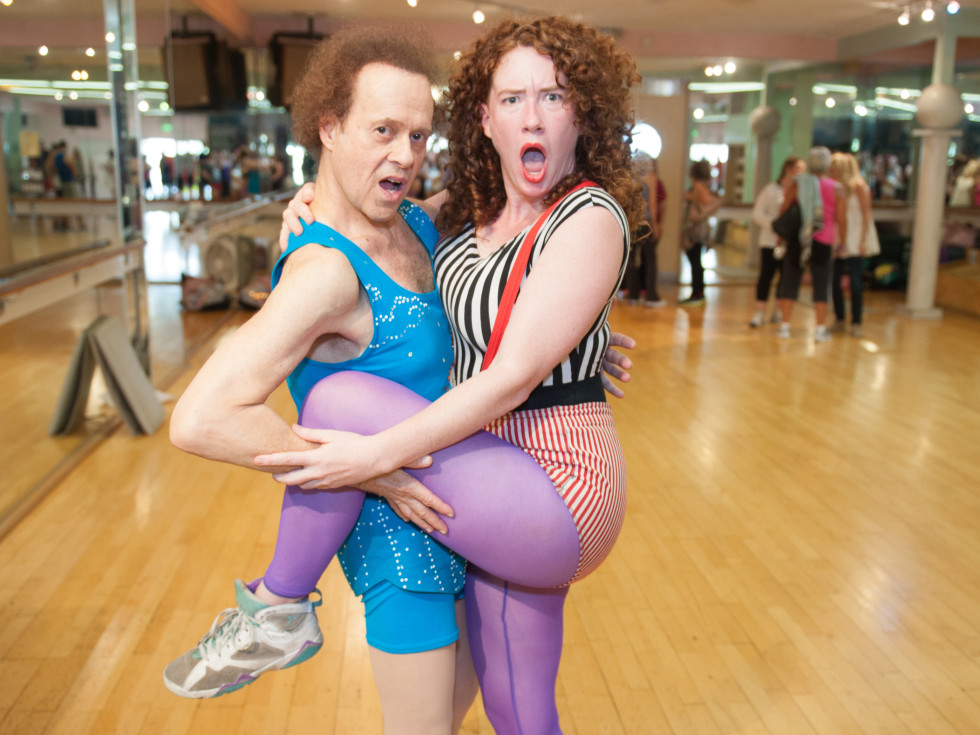 Erica Nix with Richard Simmons