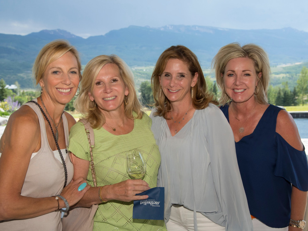 Houston Methodist in Aspen, July 2017, Diana Brock, Charlotte Orr, Anne Csorba and Holly Krhovjak