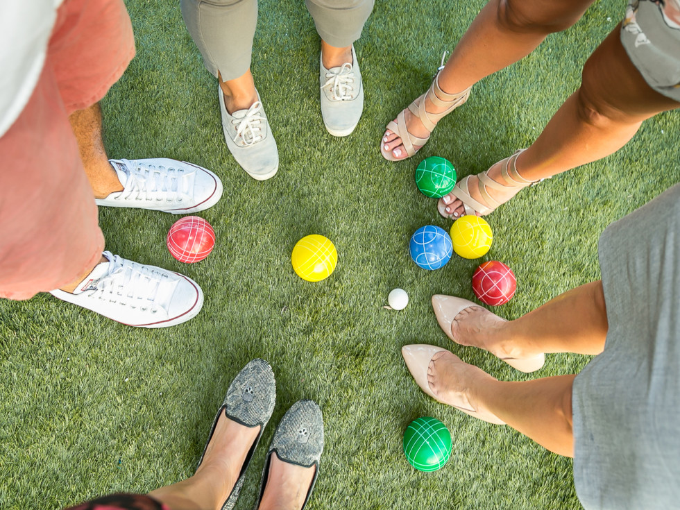 CultureMap Country Club Social bocce ball