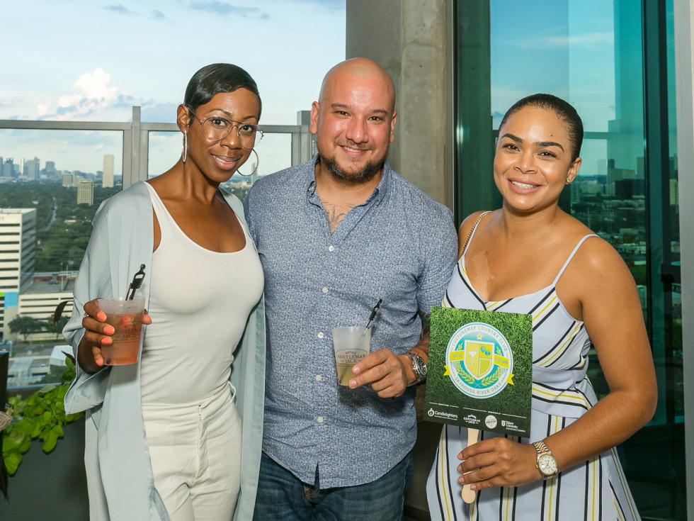 Michelle Smith, Caleb Gutierrez, Dana Boardley at CultureMap Country Club Social