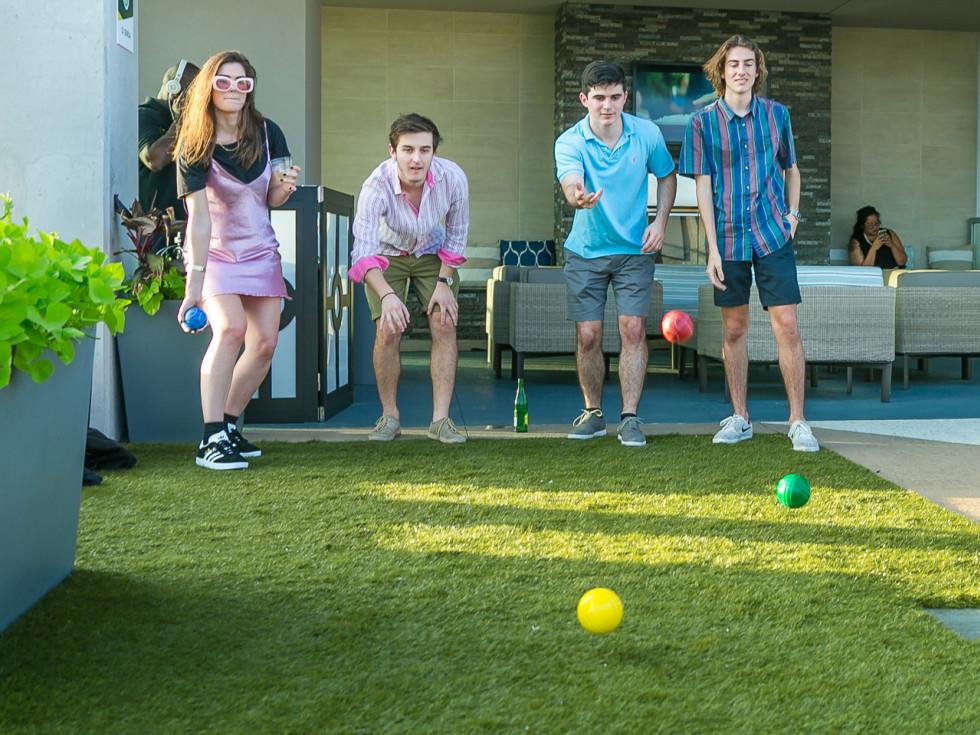 Tom Grant, Connor Grace, Joel Izzedin, Bella Grant at CultureMap Country Club Social