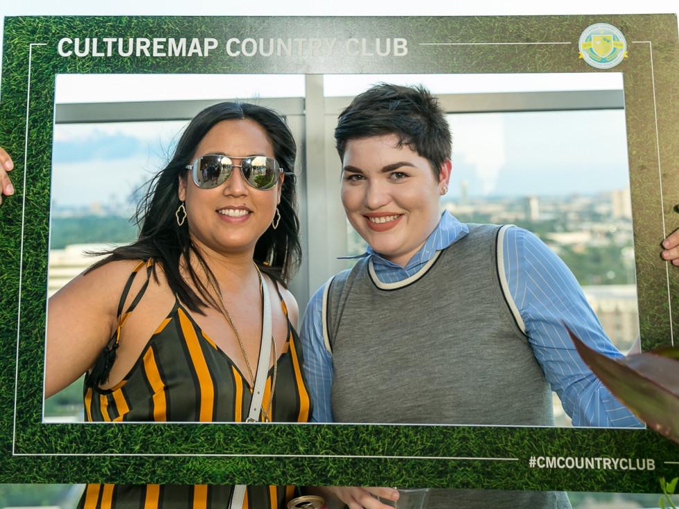 Amanda Glidewell, Samantha Hollis at CultureMap Country Club Social