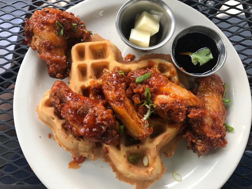Lowbrow wings and waffle