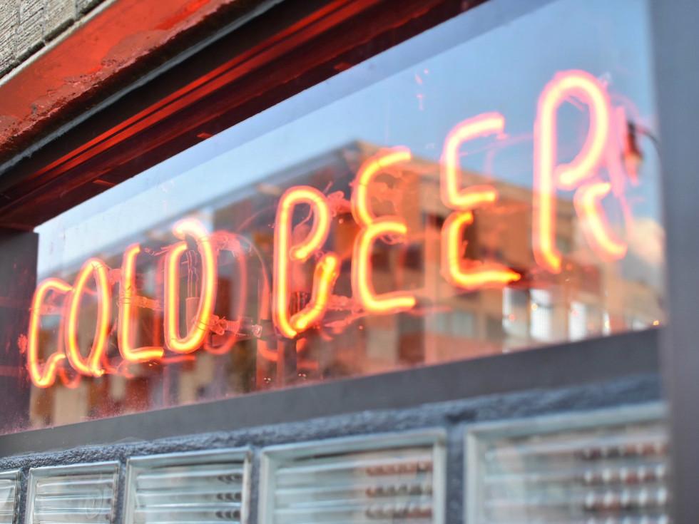 Nickel City cold beer sign