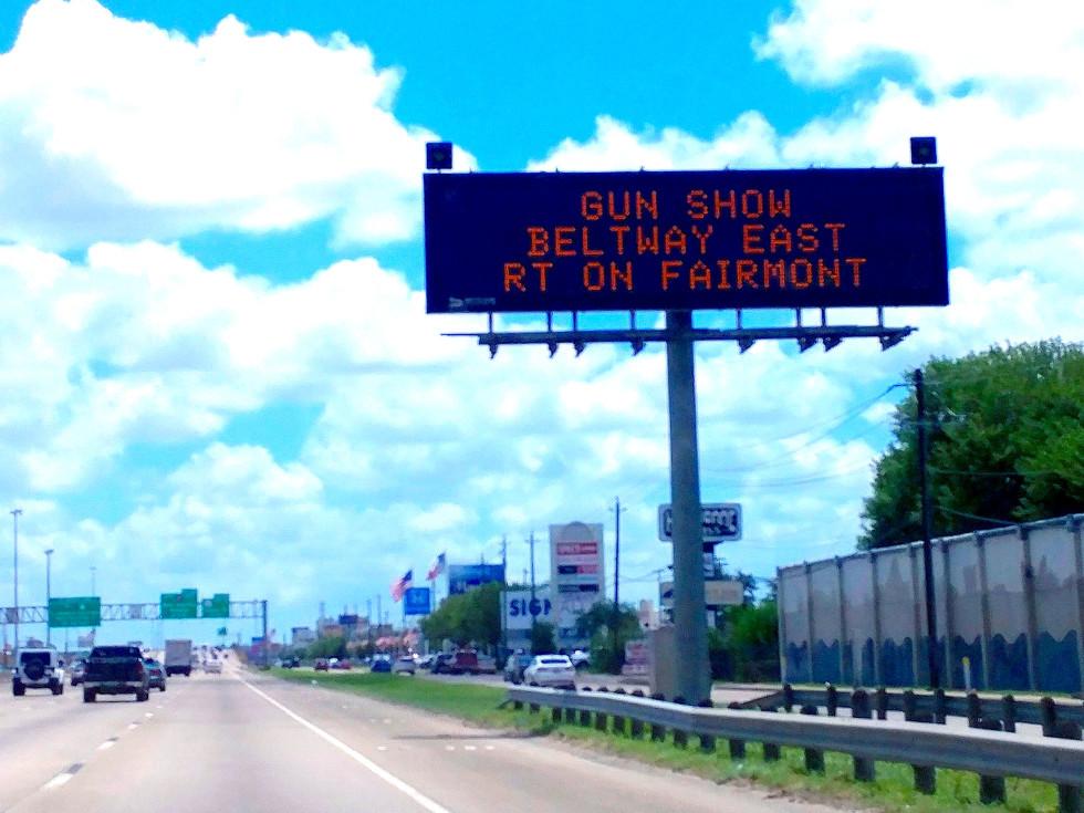 Houston, pethouse pet of the week, August 2017, gun show billboard