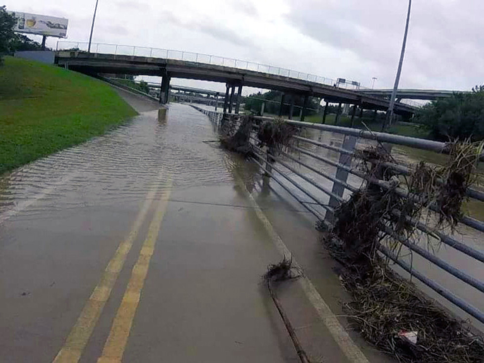 Houston, Hurricane Harvey, flood photos, white oak bayou trail