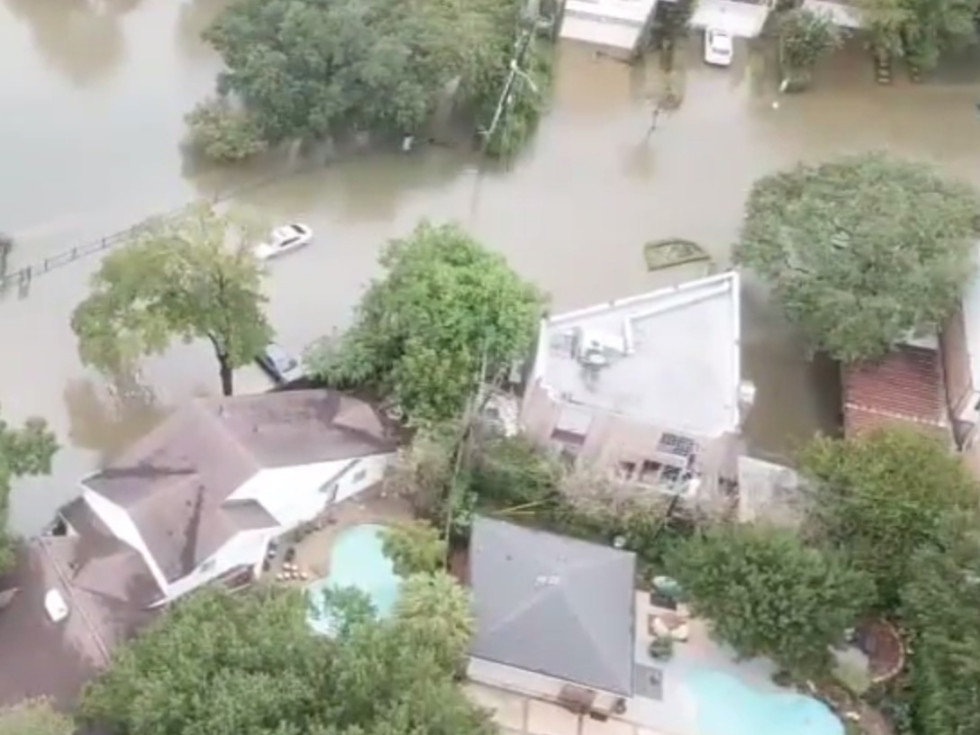 Hurricane Harvey aftermath drone video