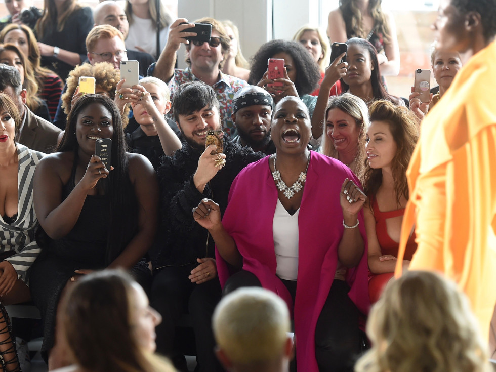 Leslie Jones reacts to Christopher Siriano collection at New York Fashion Week