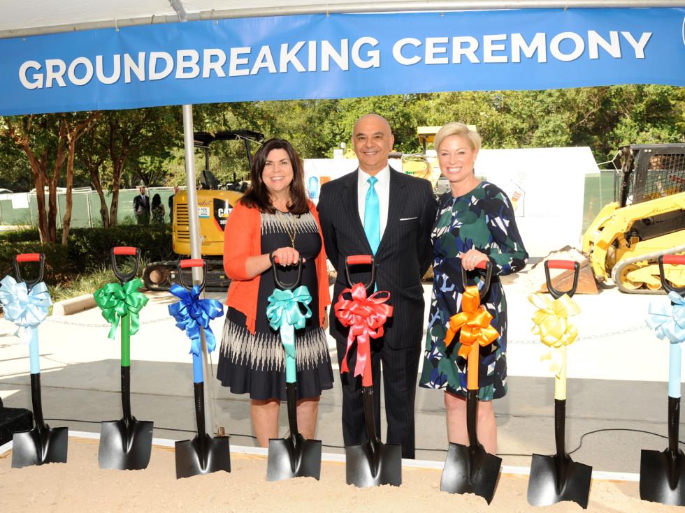 Houston, Ronald McDonald House groundbreaking, September 2017, Lesha Elsenbrook, Rick Noriega, Representative Sarah Davis