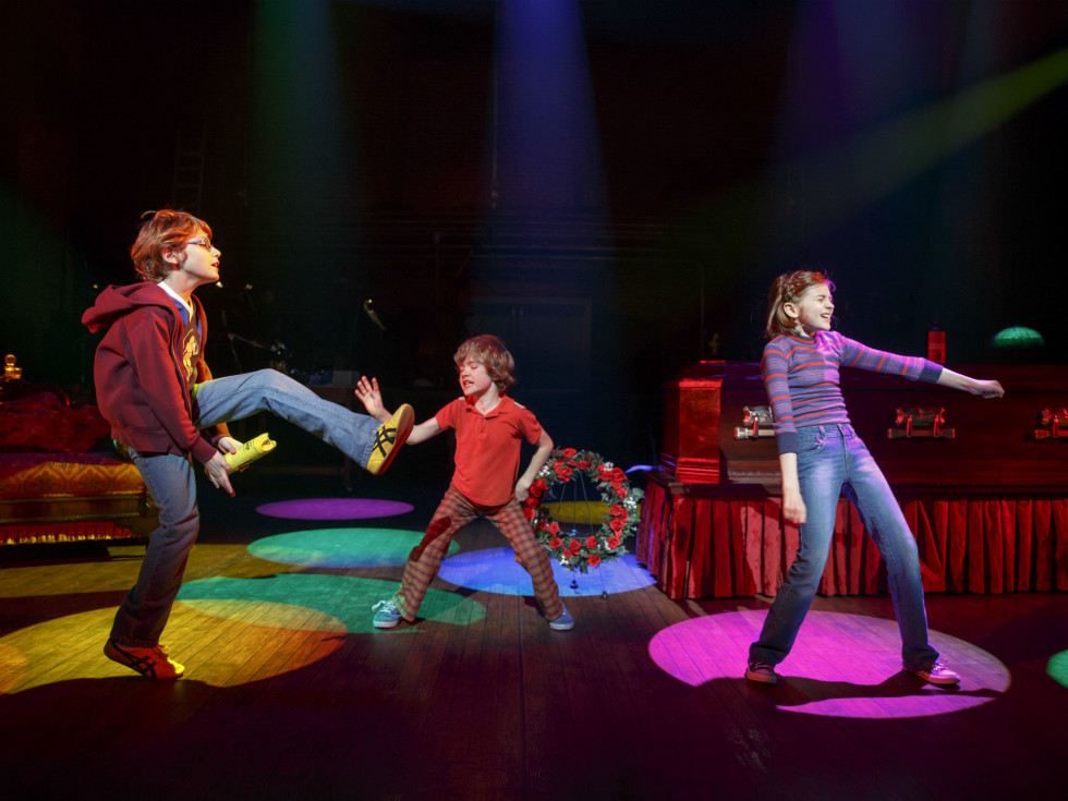 Luke Barbato Smith, Henry Boshart, and Carly Gold in Fun Home national tour