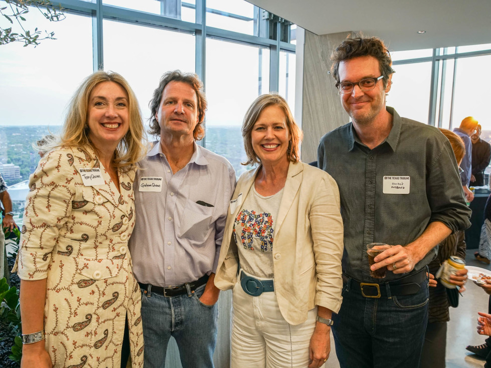 Texas Tribune Festival 2017 BBQ Feast at Google Terry Quinn Graham Quinn Ellen Ray Mark Ray