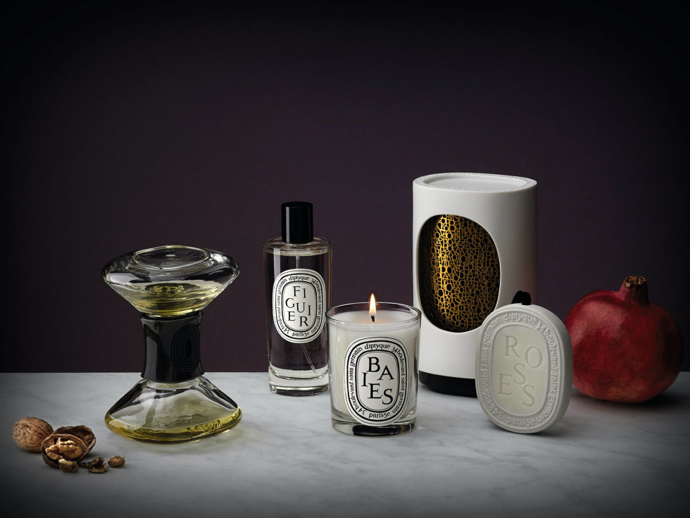 Diptyque candles and soaps