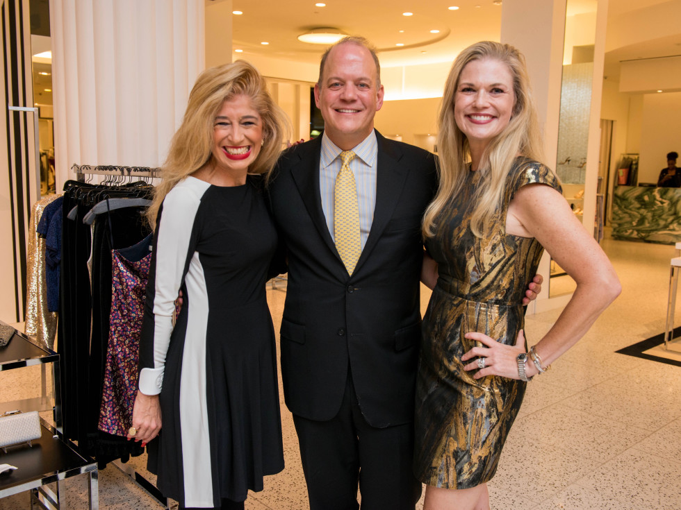 Sofia Adrogue, Rob Pierce, Amy Pierce at Women of Distinction announcement party