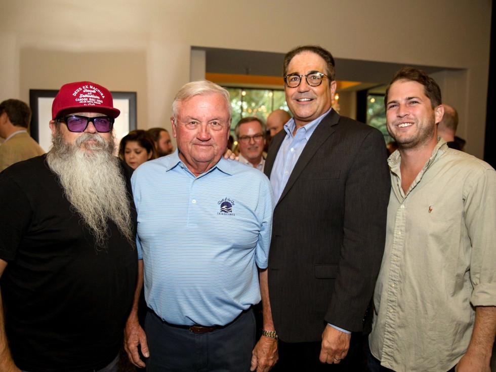 Houston, SportsMap launch party, October 2017, Lee Ellis, Charlie Epps, Graham McKernan, Nick Scurfield