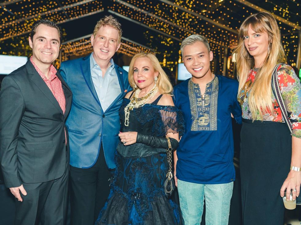 Rob Giardinelli, Lance Avery Morgan, Carolyn Farb, Nicholas Phat-Nguyen, Amanda Valentine at Fashion X Houston