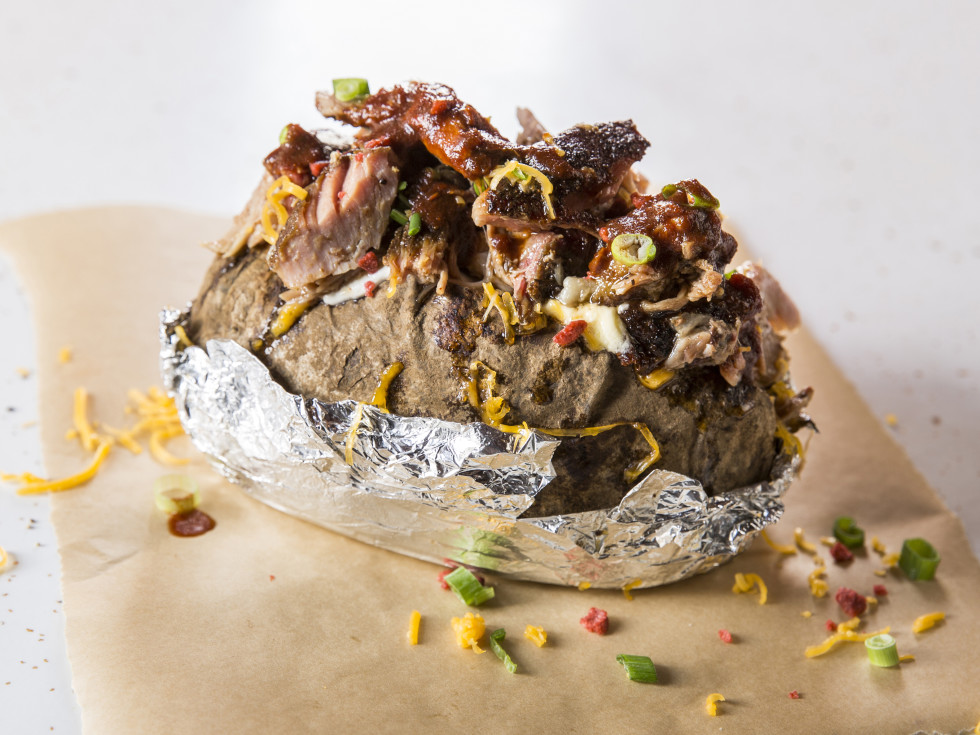 Houston, Pappas Bar-B-Q, October 2017, Chopped Beef Baked Potato
