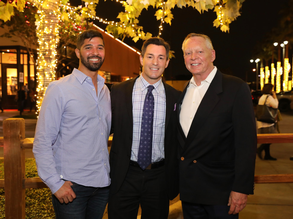 Angel Rios, Andy Cerota, Richard Flowers at Holiday Shopping Card
