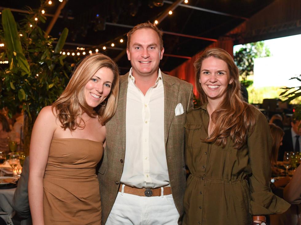 Lucie Harte, Rupert Gerard and Mandy Hixon at Nature Conservancy Gala