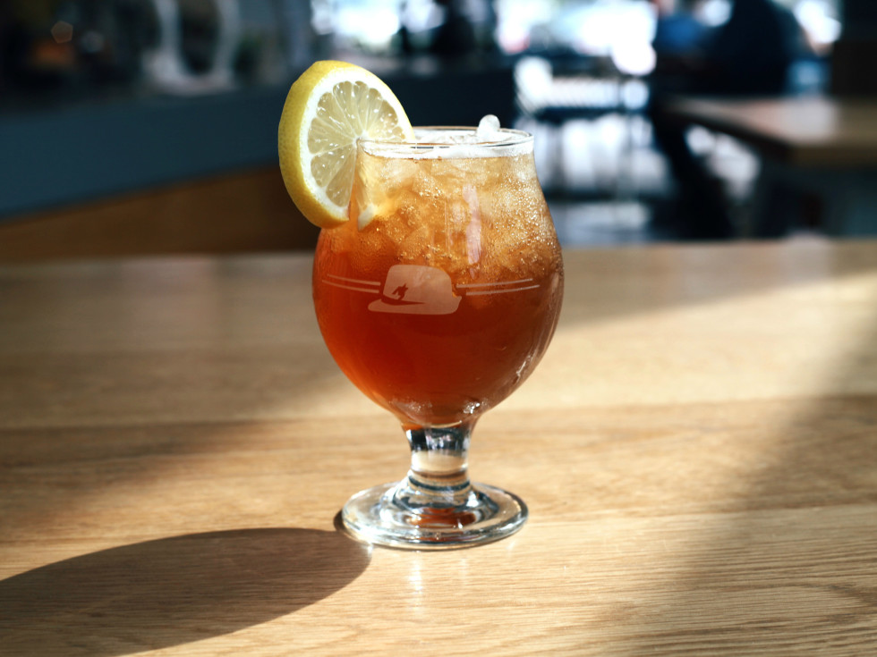 Houndstooth Coffee Basil Spritz