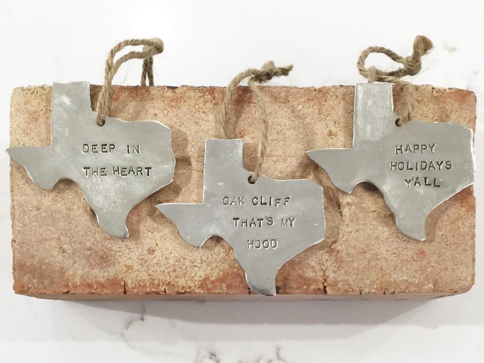 Steel Texas Ornament