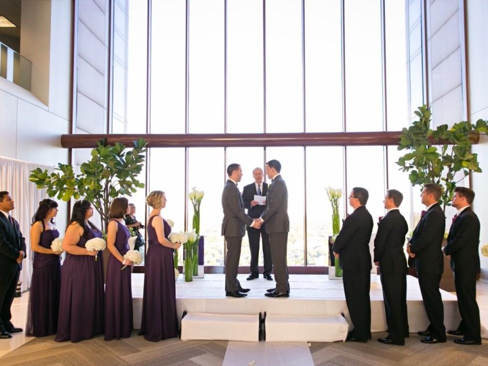 Upshaw wedding, ceremony