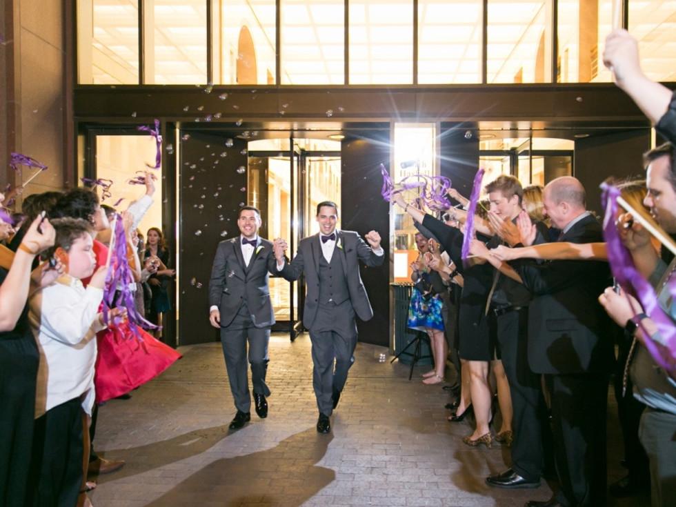 Upshaw wedding, exit