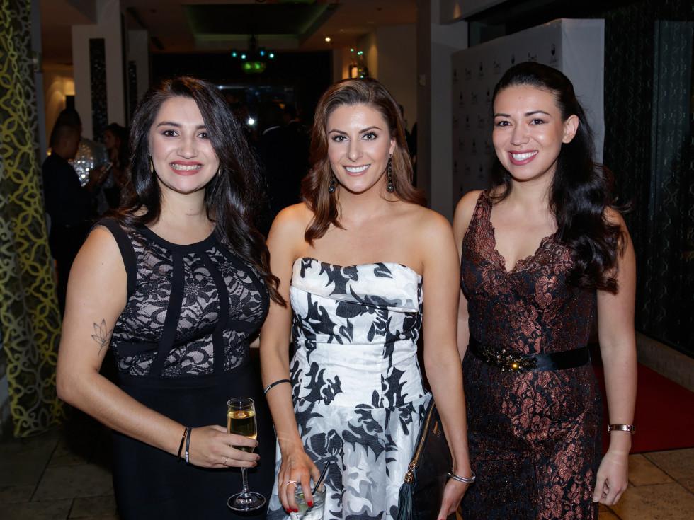 Tina Garcia, Sarah Hampton, Alice Nolen, Autumn Ball 2017