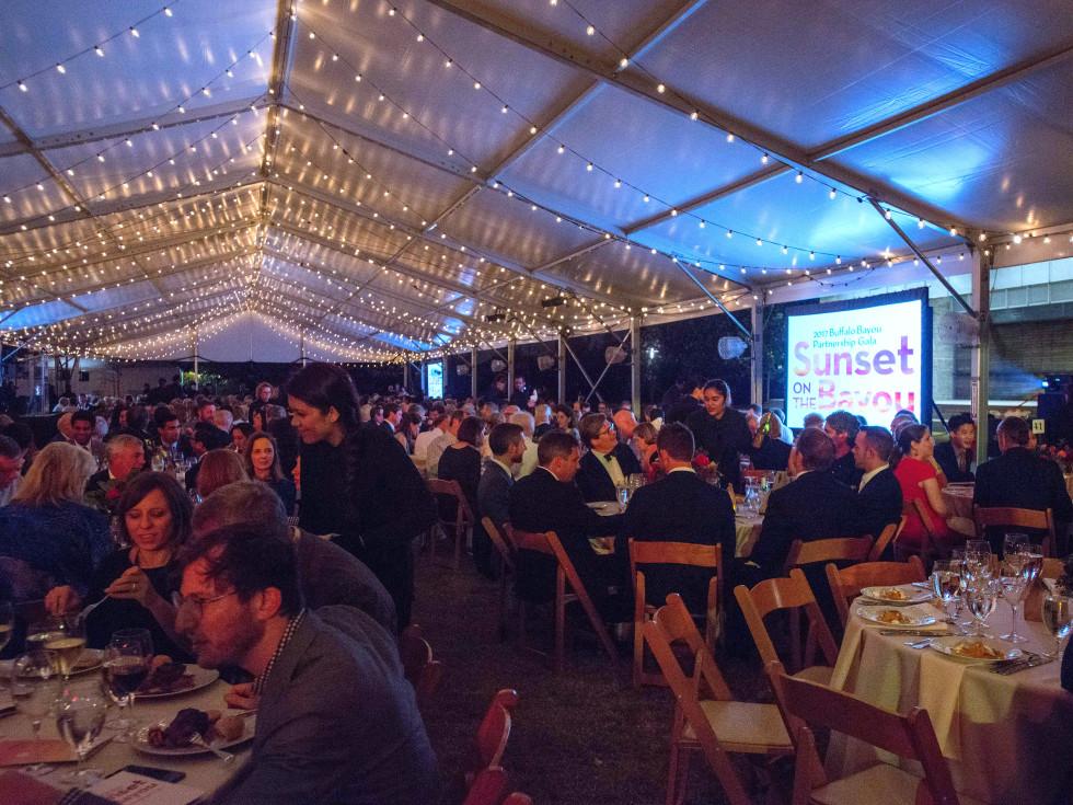 Houston, Buffalo Bayou Partnership Gala, November 2017, tent