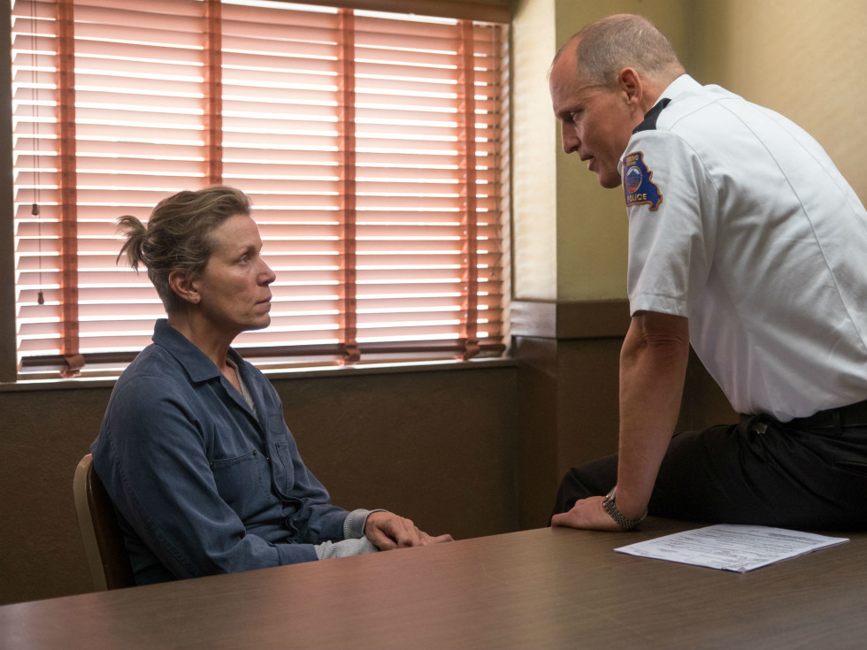 Frances McDormand and Woody Harrelson in Three Billboards Outside Ebbing, Missouri