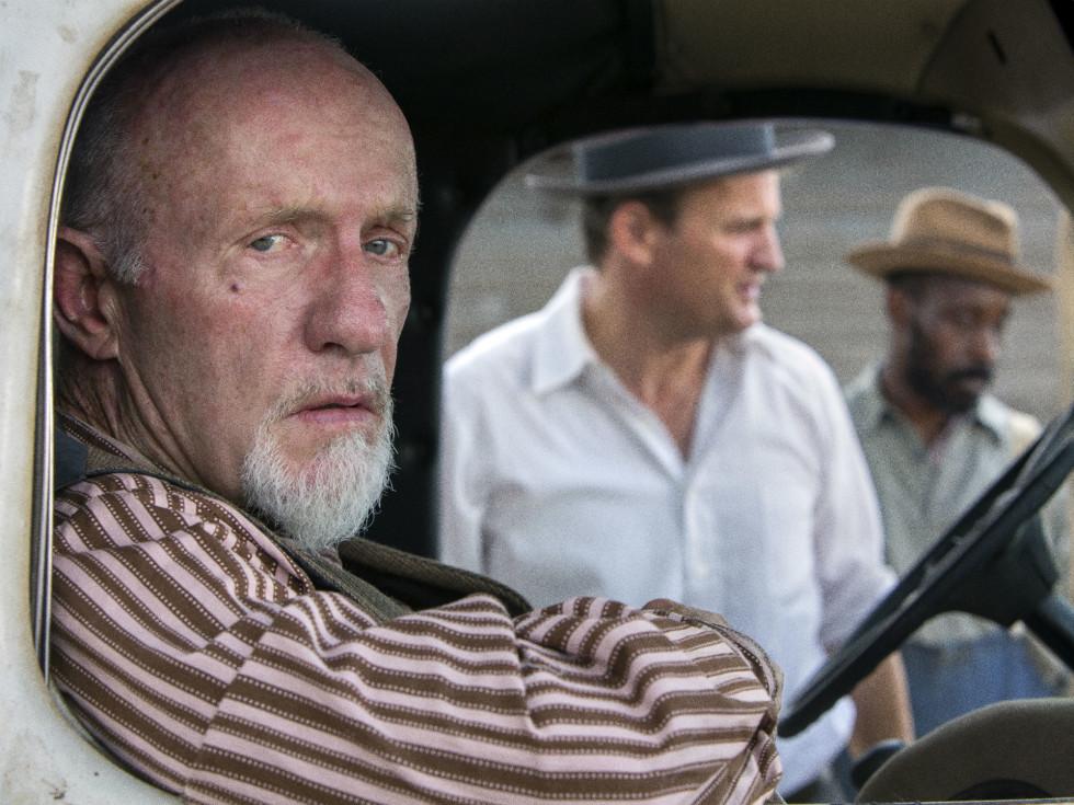 Jonathan Banks, Jason Clarke, and Rob Morgan in Mudbound