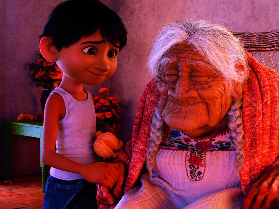 Anthony Gonzalez and Ana Ofelia Murguia in Coco