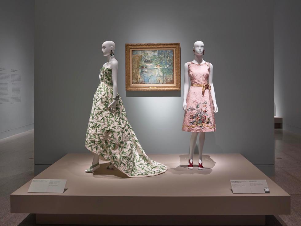 Oscar de la Renta MFAH Yvonne Cormier pink dress
