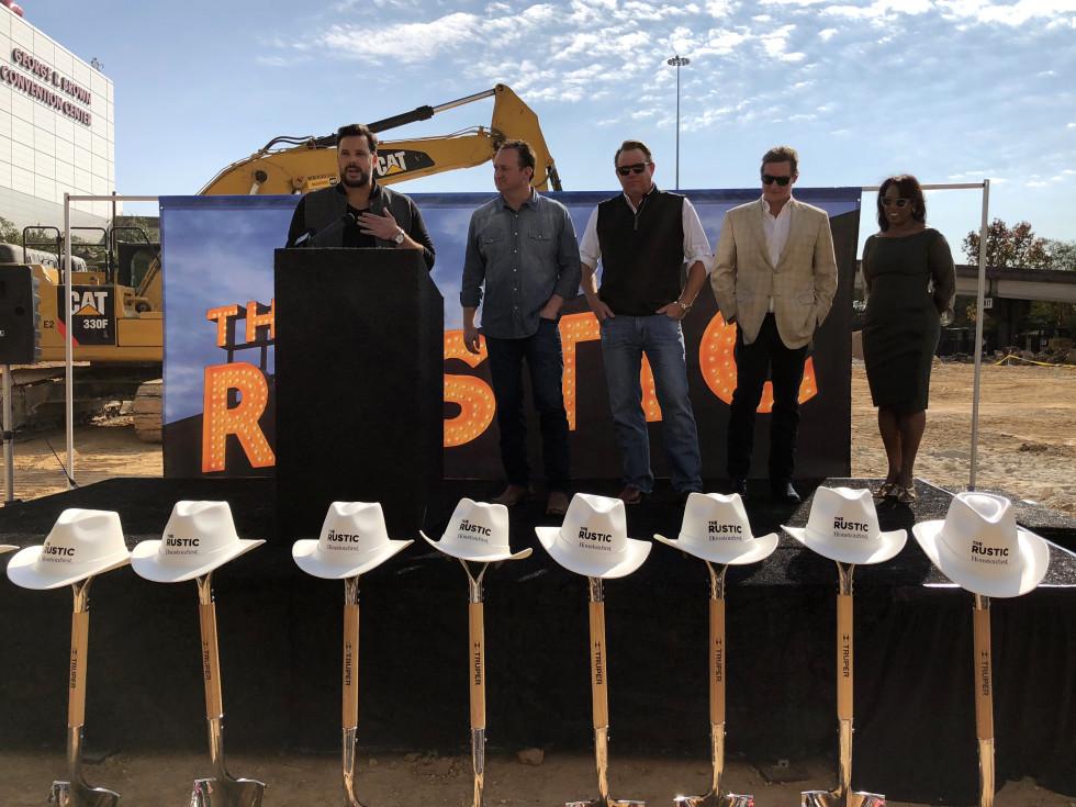 Houston, The Rustic groundbreaking, November 2017