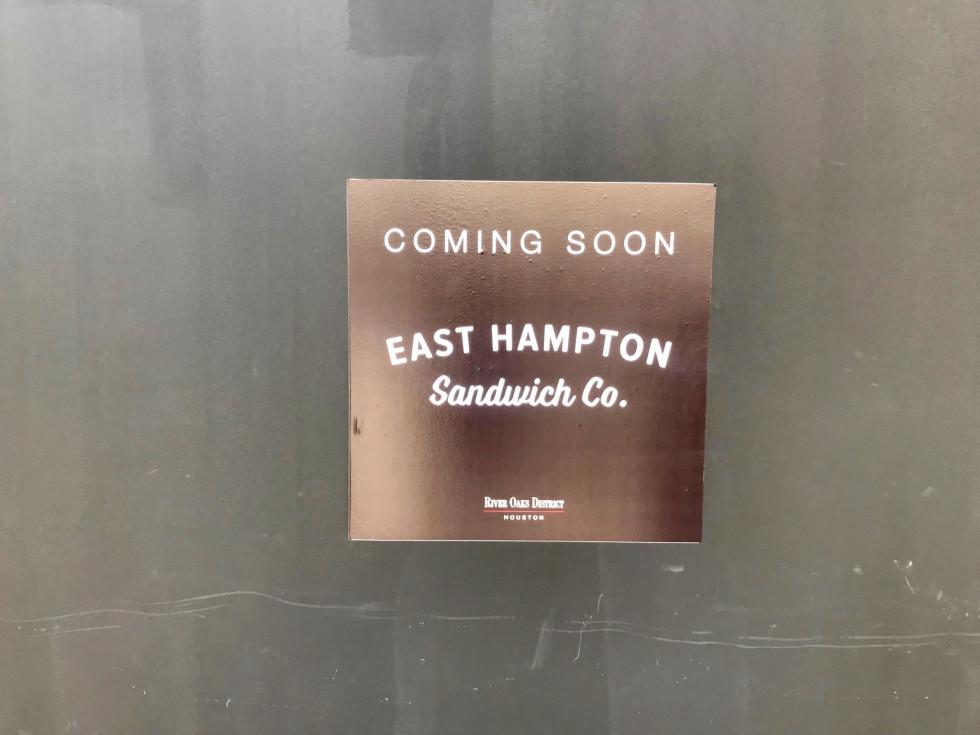 East Hampton Sandwich Co River Oaks District