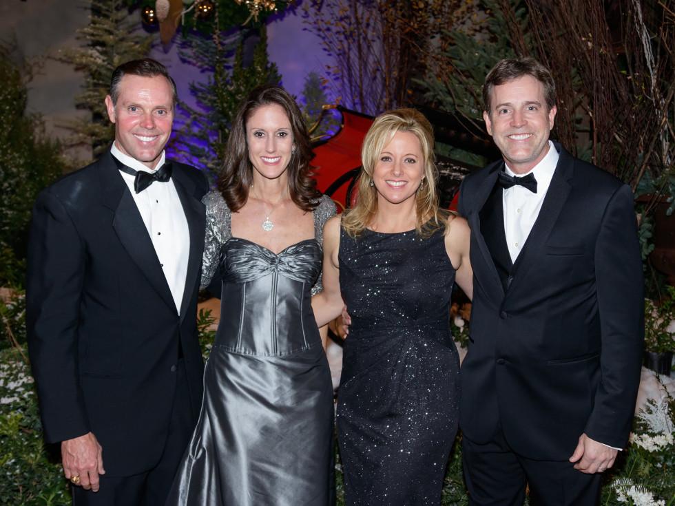 Mark Robbins, Katie Robbins, Kristi Meinecke, Chris Meinecke, Crystal Charity Ball 2017