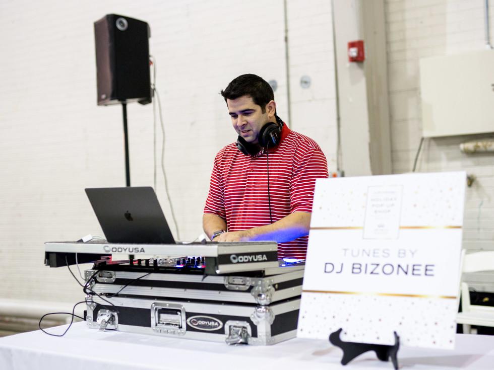 Houston, CultureMap Holiday Pop-Up Shop, November 2017, DJ Bizonee
